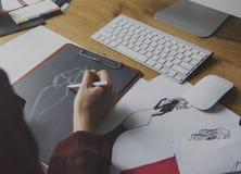 Desenhador de moda Stylish Showroom Concept imagens de stock