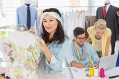Desenhadores de moda no trabalho Foto de Stock Royalty Free