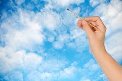 Desenhando um céu imagens de stock
