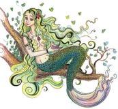 Desenhando uma sereia Foto de Stock Royalty Free