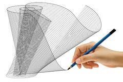 Desenhar com lápis à disposicão Imagens de Stock Royalty Free