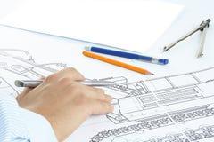 Desenhar com mão foto de stock royalty free