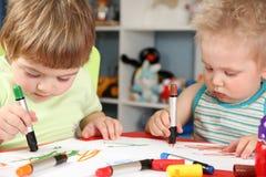 Desenhar das crianças Fotografia de Stock Royalty Free