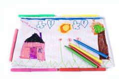 Desenhar das crianças Fotos de Stock Royalty Free