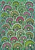 Desenhar das flores imagem de stock royalty free