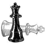Desenhar das partes de xadrez ilustração royalty free