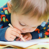Desenhar de Little Boy Fotos de Stock Royalty Free