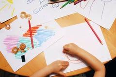Desenhar de volta à escola Fotografia de Stock Royalty Free
