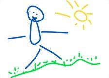 Desenhar dos miúdos Fotografia de Stock