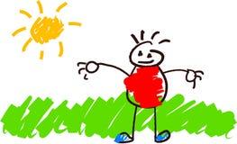Desenhar dos miúdos Imagens de Stock