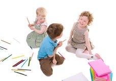 Desenhar dos miúdos Fotos de Stock