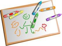 Desenhar dos miúdos Imagem de Stock
