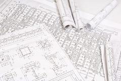 Desenhar e várias ferramentas Imagem de Stock Royalty Free