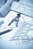 Desenhar e várias ferramentas Fotos de Stock
