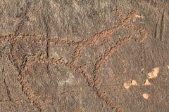 Desenhar em uma pedra Foto de Stock Royalty Free