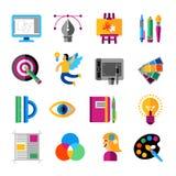 Desenhista criativo Icons Set Fotografia de Stock