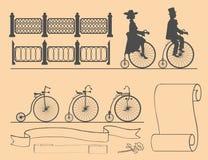 Desenhista de bicicletas retros Fotos de Stock