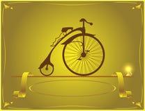 Desenhista de bicicletas retros Fotografia de Stock Royalty Free