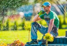 Desenhista de jardim profissional Fotos de Stock