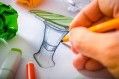 Desenhista Drawing foto de stock