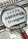 Desenhista Wanted do fpga de Dsp 3d Fotografia de Stock