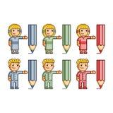 Desenhistas da coleção de arte do pixel Imagens de Stock