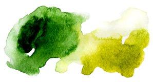 Desenho abstrativo verde e amarelo foto de stock