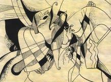 Desenho abstrato ilustração stock