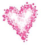 Desenho abstrato do coração Cópia do coração para o t-shirt ilustração stock