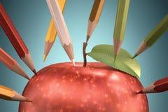 Desenho Apple Fotografia de Stock Royalty Free