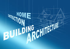 Desenho arquitectónico abstrato Foto de Stock