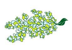 Desenho bonito do pássaro Fotografia de Stock Royalty Free