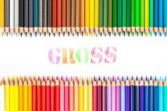 Desenho bruto por lápis da cor fotos de stock royalty free