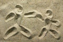 Desenho da areia Imagens de Stock
