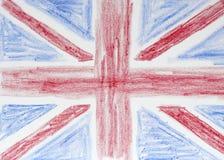 Desenho da bandeira britânica Fotos de Stock