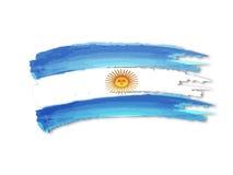 Desenho da bandeira de Argentina Fotos de Stock