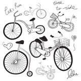 Desenho da bicicleta ilustração stock