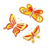 Desenho da borboleta da aquarela Foto de Stock Royalty Free