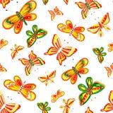 Desenho da borboleta da aquarela Imagens de Stock
