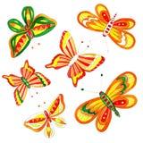 Desenho da borboleta de easter da aquarela Fotografia de Stock