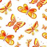 Desenho da borboleta de easter da aquarela Imagens de Stock
