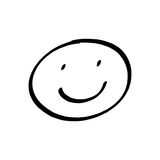 Desenho da cara do smiley Fotografia de Stock