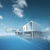 Desenho da casa do conceito Imagem de Stock Royalty Free