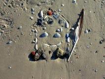 Desenho da casa na areia 4 Fotos de Stock Royalty Free