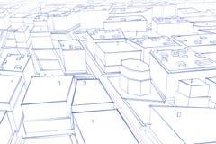 Desenho da cidade ilustração royalty free