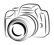 Desenho da câmera do contorno Imagens de Stock