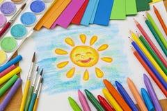 Desenho da criança Fotografia de Stock Royalty Free