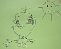 Desenho da criança foto de stock royalty free