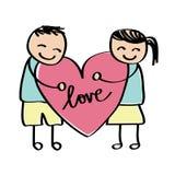 Desenho da criança do amor Imagem de Stock