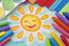 Desenho da criança Fotos de Stock Royalty Free